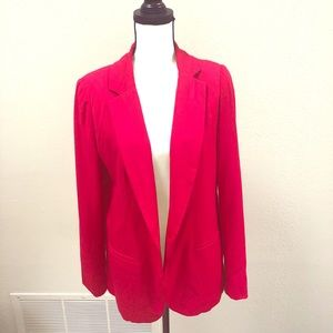 RED 🛑 Traditional One Button Blazer - Large 🛑